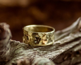 Hammered Brass Womens ring, Magic ring, Forged ring, Gift For Her, Brass Ring Band, Handcrafted ring, Brass Jewelery,Rustic ring