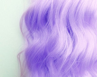 LAVENDER PURPLE Pastel 100% Human Hair Extensions : Remy Human Hair, Single Clip Extensions, One Weft Extension, Streak Extension