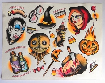 Trick 'R Treat flash sheet inspired print
