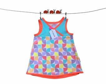 baby girl tunic dress, size 24 Months, 2 T, girl spring dress, geometric dress, baby girl dress, summer dress, kids clothing, cotton dress