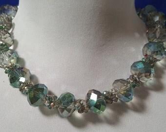 Elegant Green Crystal Necklace