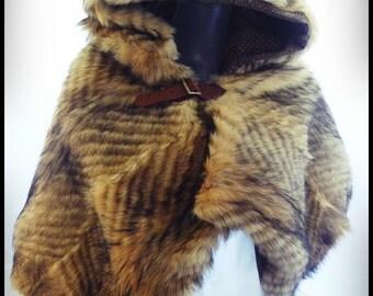 Chaperon Medieval hooded fur