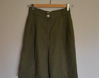 Vintage High Waisted Olive Green Shorts