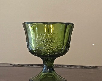 Vintage Compote Indiana Glass Colony Harvest Grape