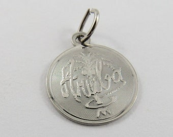 Aruba Sterling Silver Charm or Pendant.