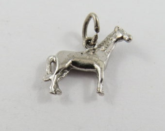 Thoroughbred Horse Sterling Silver Charm or Pendant.