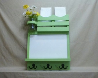 Mail Organizer - Dry Erase Board - Message Center - Coat Rack - Jar Vase