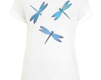 Dragonflies Print T-shirt
