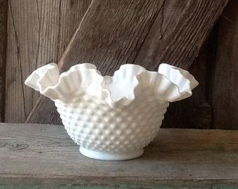 Fenton hobnail bowl