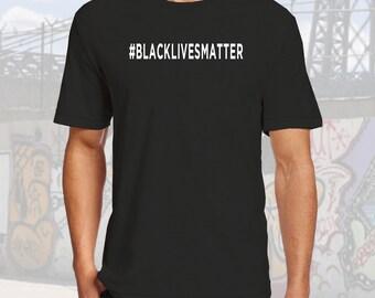 BlackLivesMatter Tshirt Black Cotton Crew Neck