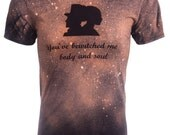 Pride and Prejudice You Have Bewitched Me Body and Soul T-Shirt - Mr. Darcy - Elizabeth Bennet - Charlotte Bronte - Bleached Shirt