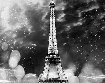 Eiffel tower, Black and White, Paris photo, Paris art, Paris decor, Home decor, Wall decor, Instant Download, JPG photo