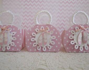 Ballerina Favor Boxes, Favor Boxes, Girls Birthday Favor Boxes, Girls Birthday Party Favors, Ballerina Favor Bags, Ballerina Party Favors.