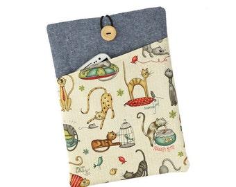 Cat iPad case,iPad Air sleeve,iPad mini cover,iPad Pro case,iPad Air 2 cover,iPad mini 4 case,iPad Pro 9.7,iPad mini 2,Cat gift,Cats,Fabric