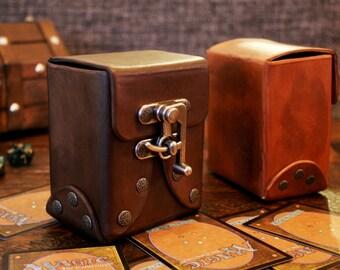 Custom*** Standard Leather Deck Box - Trading Cards, CCG, TCG, MTG, Yugioh, Pokemon, Steampunk, Cosplay, Accessory
