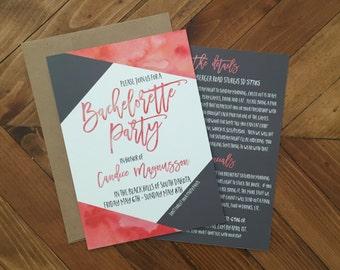 Bachelorette Party Invitation - Bachelorette Party Printable - Customizable Invite - Hen Party Invitation