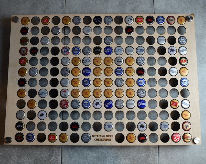Large Square Beer Cap Display for 190 Beer Bottle Caps