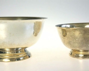 Paul Revere Silver Plate Bowl Taunton Oneida Lot of 2