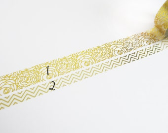 gold Washi Tape Sampler, Masking Tape Sampler für kikki k, filofax, Happy Planner or Erin Condren