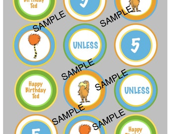 The Lorax Cupcake Toppers