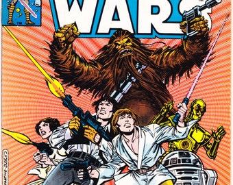 Star Wars 14 comic book, Darth Vader art, Han Solo gift, R2D2, Princess Leia, Chewbacca, Stormtrooper, CP3O. 1978 Marvel Comics in VF (8.0)