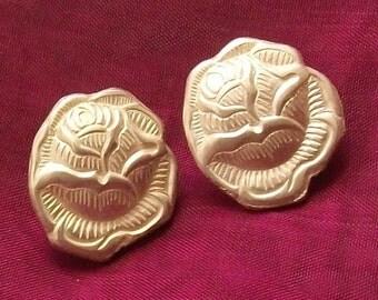 Flatware jewelry rose ear studs earrings flatware jewelry BO129