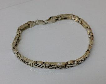 925 silver bracelet 19 cm link bracelet SA244