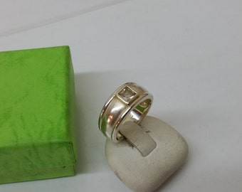 Ring 925 Silver square Crystal stone SR695