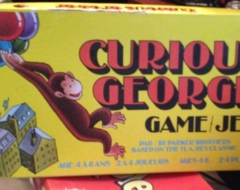 NOW ON SALE! Vintage (c. 1977) Curious George board game published by Parker Brothers. Incomplete.