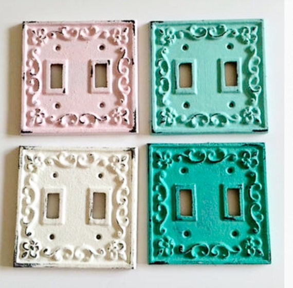 Metal Light Switch Cover Distressed Outlet By Lilhelpinghands