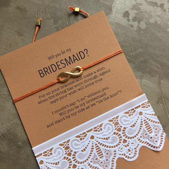 Burlap bridesmaid proposal