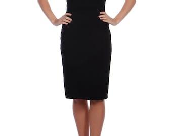 Black Tied Front Dress Black Womens Clothing Womens Dresses Robe Noir Vetements Pour Femmes La Robe Des Femmes