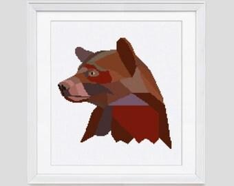Bear cross stitch pattern, cross stitch pattern, instant download PDF cross stitch pattern, bear counted cross stitch pattern