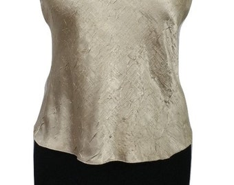 Vintage Top by Phase Eight Gold Size 10 - 1990s - Excellent Condition - Free Postage