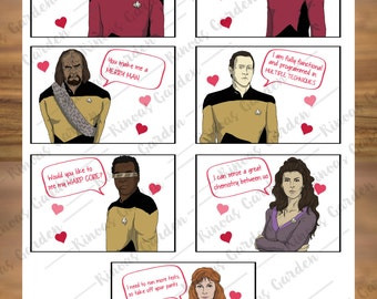 Star Trek Valentine | Printable Valentine | Star Trek Card | Funny Valentines | Nerdy Valentine | Instant Download