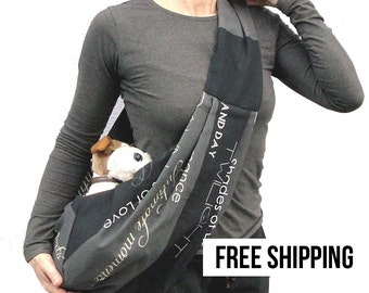 Small dog sling carrier SHADES OF LOVE