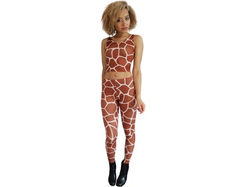 GIRAFFE CROP TOP (Handmade)