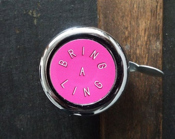 Bring-a-ling: Tickled Pink Bicycle Bell