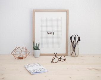 Illustration Lovers - Art Print - Decoration - Ink art - Typography