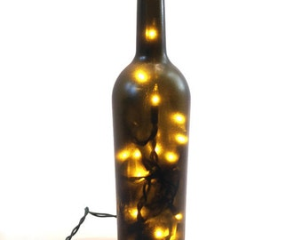 Wine Bottle Lamp / Wine Bottle Decor / Gifts for Men / Gift Ideas