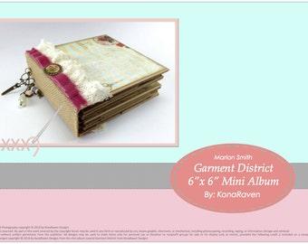 "Garment District 6"" x 6"" Mini Album TUTORIAL"