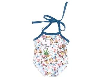 Floral Baby Swimsuit   Flower Girl Infant Swimwear