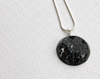 Resin Necklace - Statement Necklace - Resin Pendant - Black Necklace - Resin Jewellery - Earring Necklace Set Available