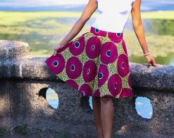 Ankara Mini Skirt