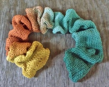OOAK Buried Treasure Gradient - Worsted Cotton Yarn - Hand Dyed Cotton Yarn - Organic Yarn - Hand Dyed Yarn - Worsted Yarn - Gradient Yarn