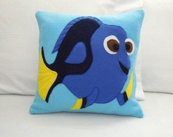 Dory Fleece Throw Pillow, Finding Dory