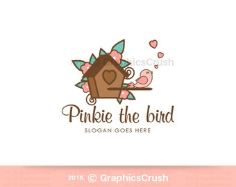 Birdhouse Logo Design Bird Logo Design Clipart Bird Baby Logo Design