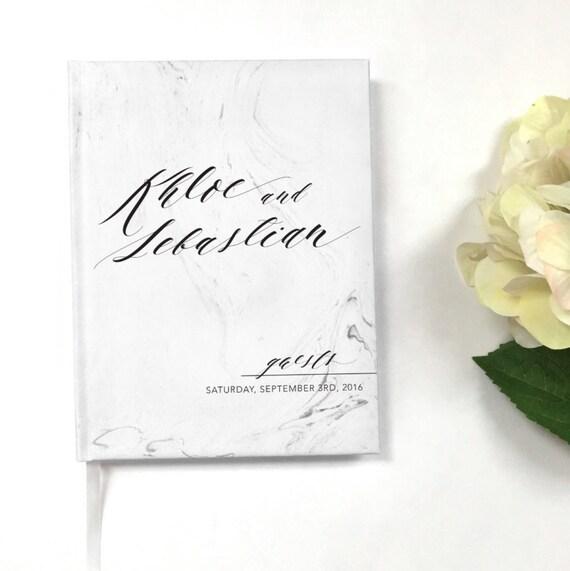 Modern Marble Wedding Guest Book,  Custom Wedding Guestbook, Custom Designed Wedding Guest Book, Wedding gift, Wedding Keepsake