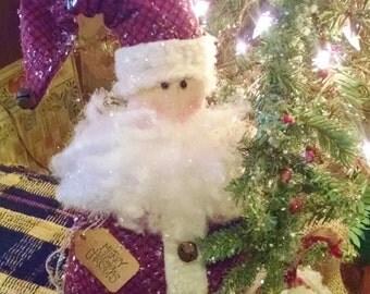 Primitive Handmade Jolly Old Santa