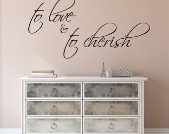 Wall Sticker Love Quote- To love and to Cherrish - Formal wedding design | Wedding wall decor | Love wall sticker | Married husband & wife